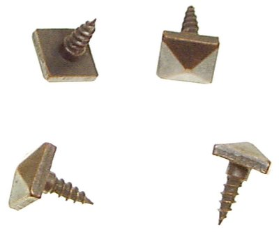 Pyramid In Antique Copper Finish For Face Mounting Hardware On Mission Furniture Head Is 1 2 Inches Square Thread Long