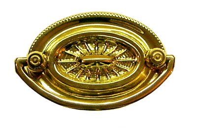 heppelwhite oval style drawer pull with 2 inch on center boring the back plate width is 2 12 inches u0026 height is 1 34 inches stamped brass back plate