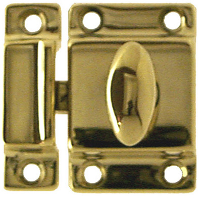 Better Quality latch polished brass finish. Item # BQUL3