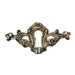 Victorian Cast brass keyhole cover  item # CBK1