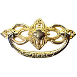 Victorian cast brass drawer pull. Item # CBP6