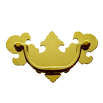 Chippendale brass drawer pull Item # CHIP1