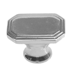 Art Deco polished nickel pull. Item # DECON2