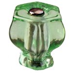 "Victorian green glass hexagon knob 1 1/4 "" Item # GGN1"
