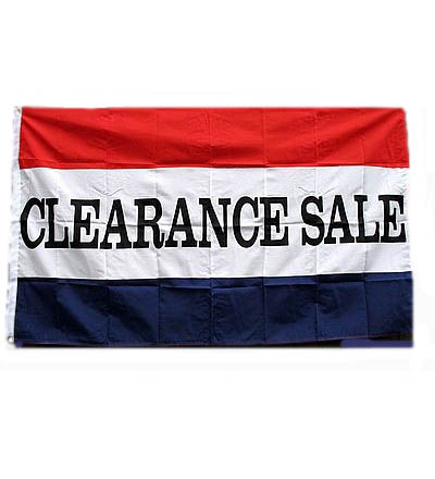 CLEARANCE SALE Flag 3' X 5' -- Item # FLGCLEARSL