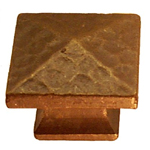 Mission pyramid knob antique copper finish. Item # MACK1