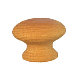 "White Oak 1 1/4 "" wood knob. Item # OK2"