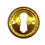 Stamped brass round keyhole cover Item # SBK3