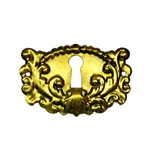 Victorian stamped brass keyhole cover Item # SBK5