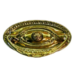 Colonial Revival stamped brass drawer pull. Item # SBP11