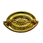 Hepplewhite oval brass drawer pull. Item # SBP13