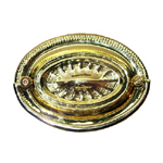 Heppelwhite oval brass drawer pull. Item # SBP15