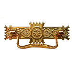Eastlake stamped brass drawer pull. Item # SBP4