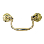 Swan neck brass drawer pull. Item # SWN1