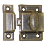 Cupboard latch antique brass finish. Item # ULAB2