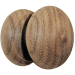 "Walnut 1 3/8 "" round wood knob. Item # WK10"