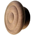 "Walnut 2 1/2 "" wood knob. Item # WK9"