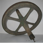 Vintage Wood Wheel & Axle Item WWA1