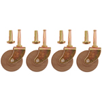 "2"" wood wheel caster set of 4 Item # CAST5SET"
