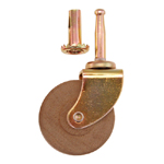 "2"" ball bearing single wood wheel caster Item # CAST6BB"