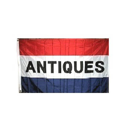 ANTIQUES Flag - Better Quality 3' X 5' -- Item # FLGANBQ