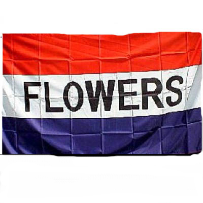FLOWERS Flag - Red, White & Blue 3\' X 5\' -- Item # FLGFLOWERS