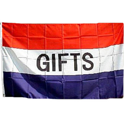 GIFTS Flag - Red, White & Blue 3' X 5' -- Item # FLGGIFTS