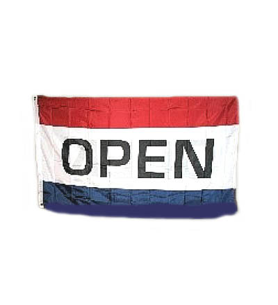 OPEN Flag - Reads Correctly Both Sides 3\' X 5\' Item 2SOP