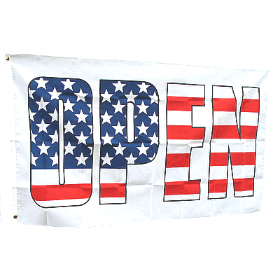 Patriotic OPEN USA - Red, White & Blue 3' X 5' Item # FLGPOPN