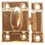Cupboard latch polished brass finish. Item # ULAB5